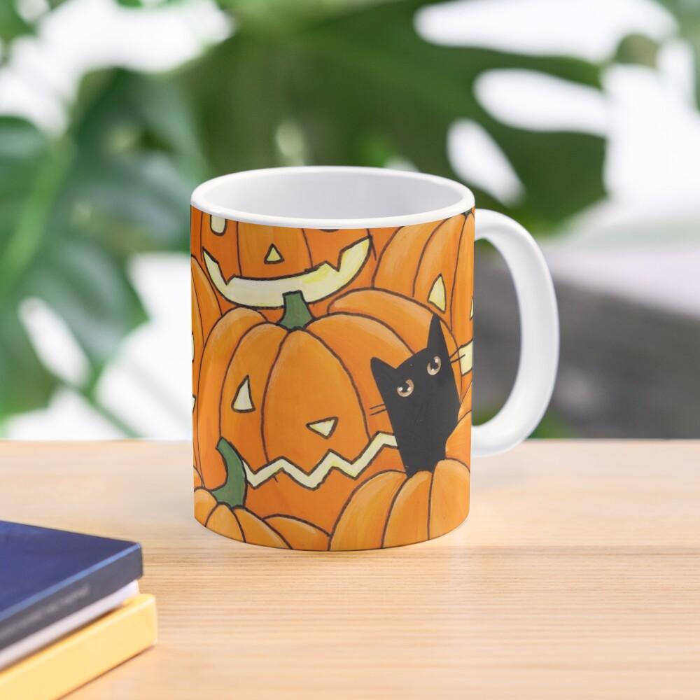 Black Cats & Jack-o-Lanterns Mug
