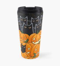 Black Cats & Jack-o-Lanterns Travel Mug