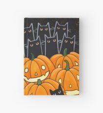 Black Cats & Jack-o-Lanterns Hardcover Journal