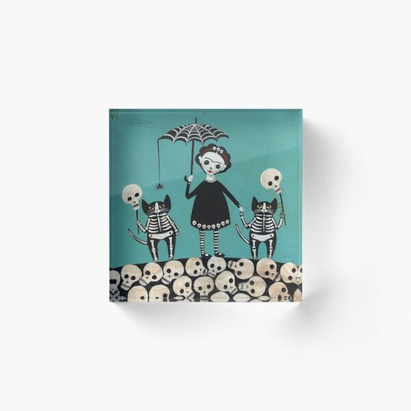 Day of the Dead  Acrylic Block