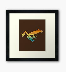 Red Eyed Tree Frog - Retro Pattern Framed Print