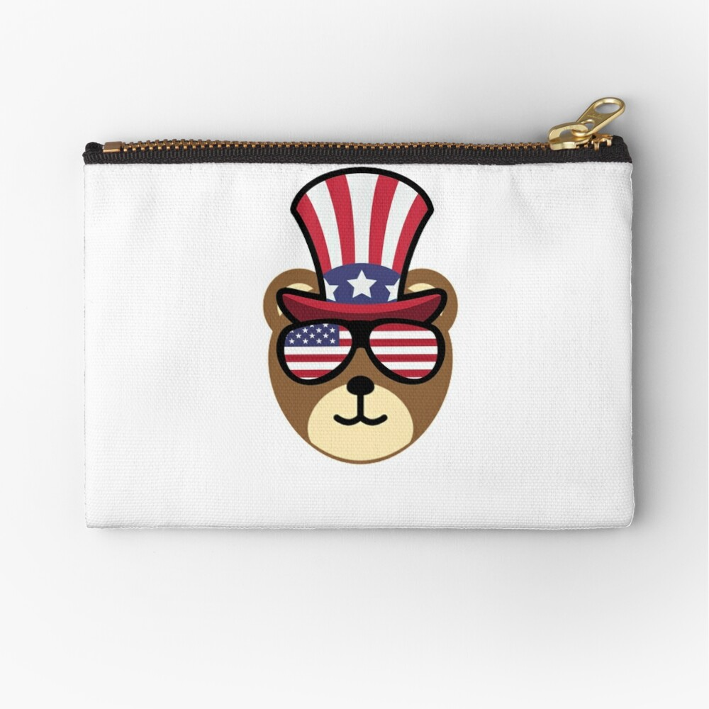 Bear Happy 4th Of July Bolsos de mano