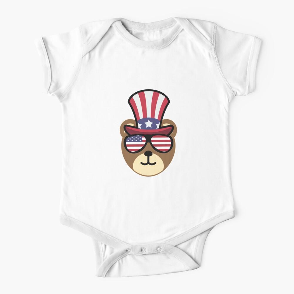 Bear Happy 4th Of July Body para bebé
