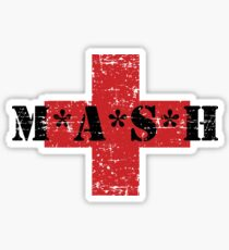 Mash TV Show 80s 1980s Army 4077 Distressed Faded Vintage Sticker