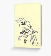 blind birdee 1 Greeting Card