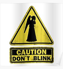 Doctor Who - Don't Blink Weeping Angels Poster