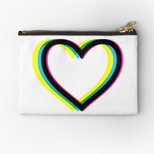 Heart (Queer Eye Logo Style) Zipper Pouch