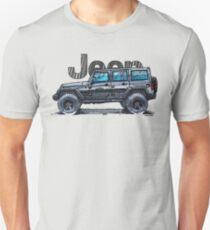 4dr Jk Unlimited - Black Unisex T-Shirt