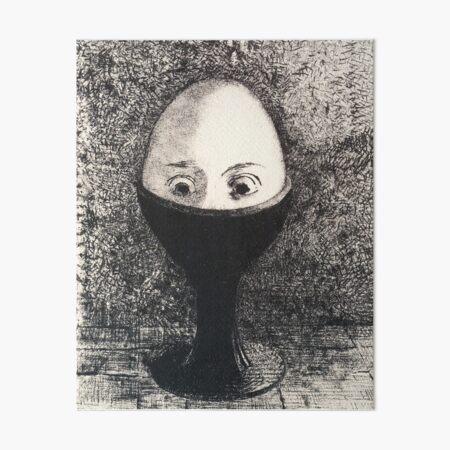 HD The Egg, by Odilon Redon  (1885) High Definition Art Board Print