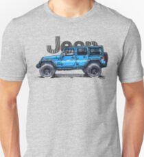 4dr Jk Unlimited - Blue  Unisex T-Shirt