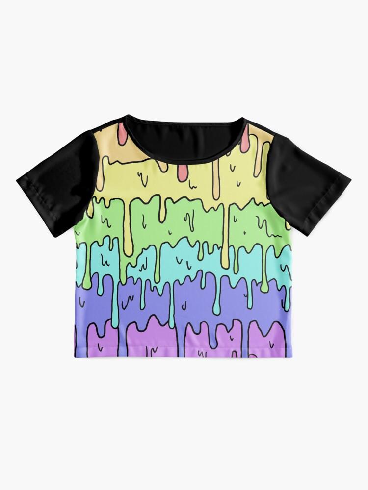 Alternative Ansicht von Pastell Kawaii schmelzender Regenbogen-Entwurf Chiffon Top