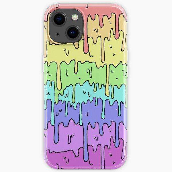 Pastel Kawaii Melting Rainbow Design  iPhone Soft Case