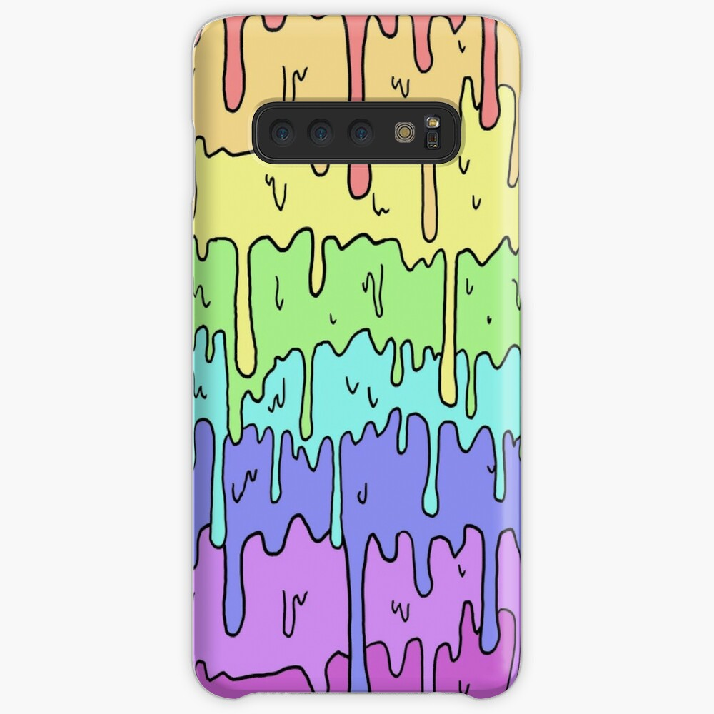 Pastel Kawaii Melting Rainbow Design  Case & Skin for Samsung Galaxy
