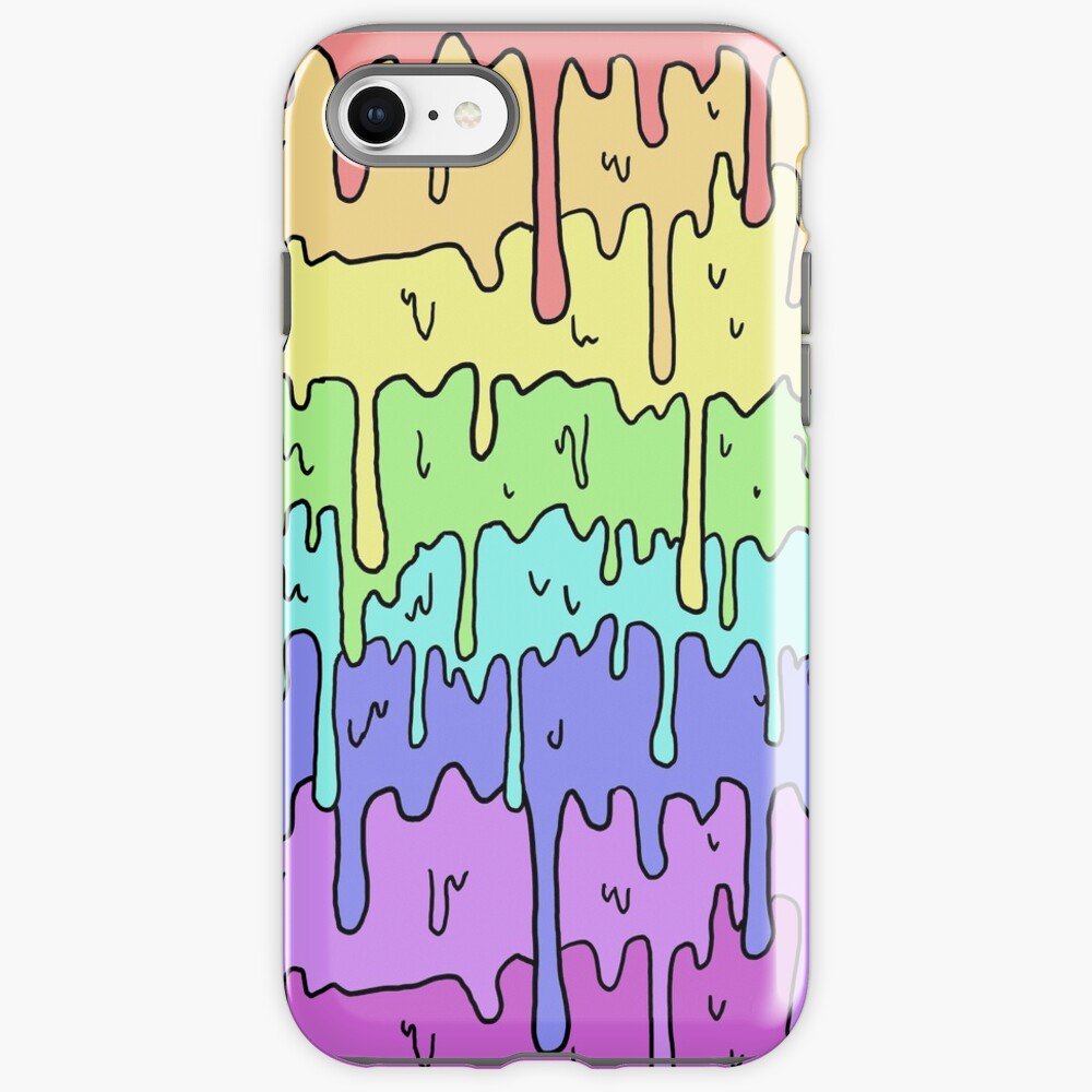 Pastel Kawaii Melting Rainbow Design  iPhone Case & Cover