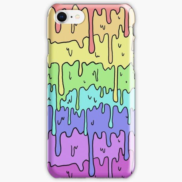 Pastel Kawaii Melting Rainbow Design  iPhone Snap Case