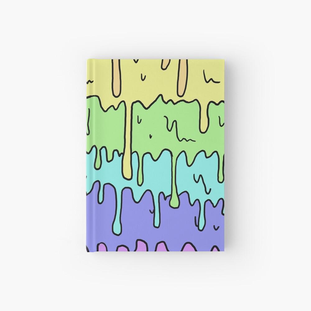 Pastell Kawaii schmelzender Regenbogen-Entwurf Notizbuch