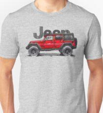 4dr Jk Unlimited - Red Unisex T-Shirt
