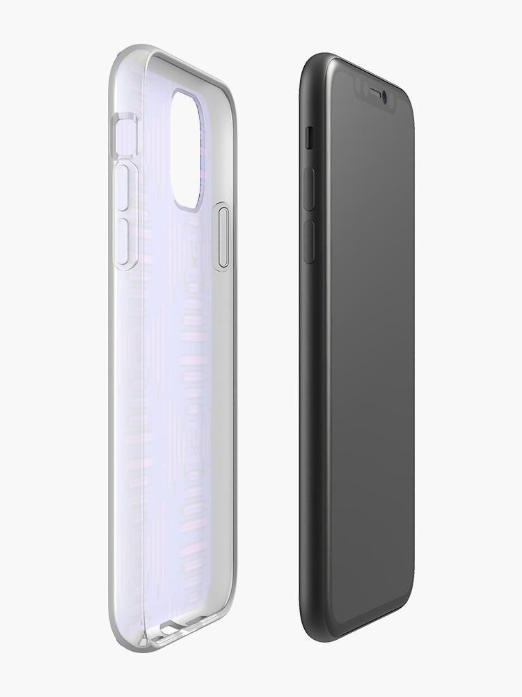 Coque iPhone «Violet au néon», par JLHDesign
