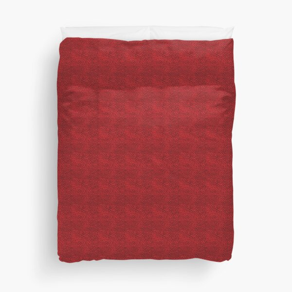 Elephant print RED Duvet Cover
