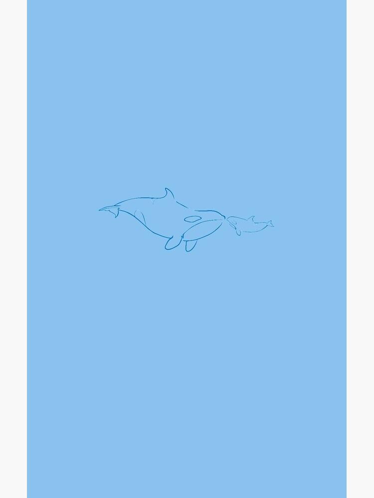 Mutter und Baby: Killerwal von PepomintNarwhal