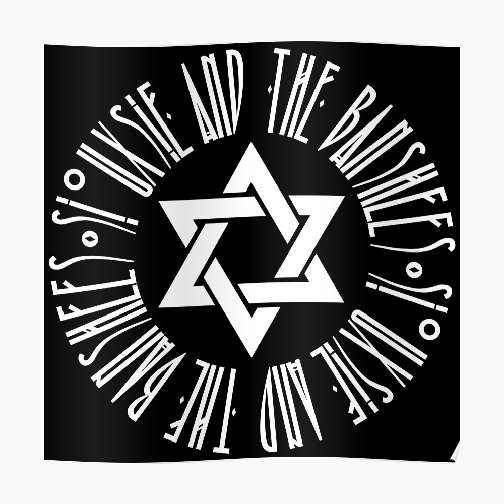 Siouxsie And The Banshees Logo Star Of David Israel 2 Poster By