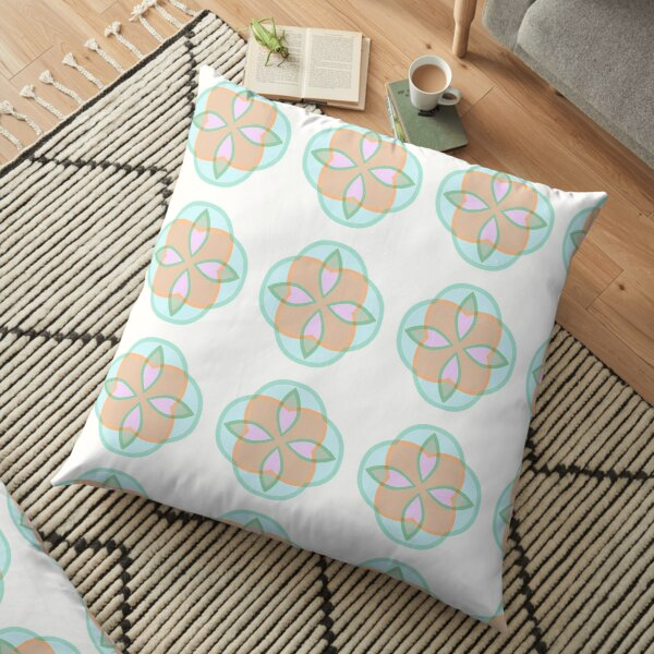 imagination theme patterns the structure of the stained glass window seamless colorful repeat pattern Floor Pillow
