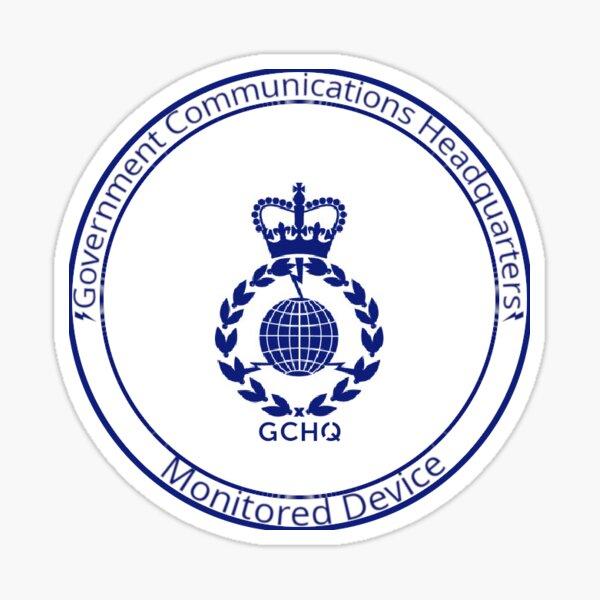 GCHQ - Monitored Device Sticker