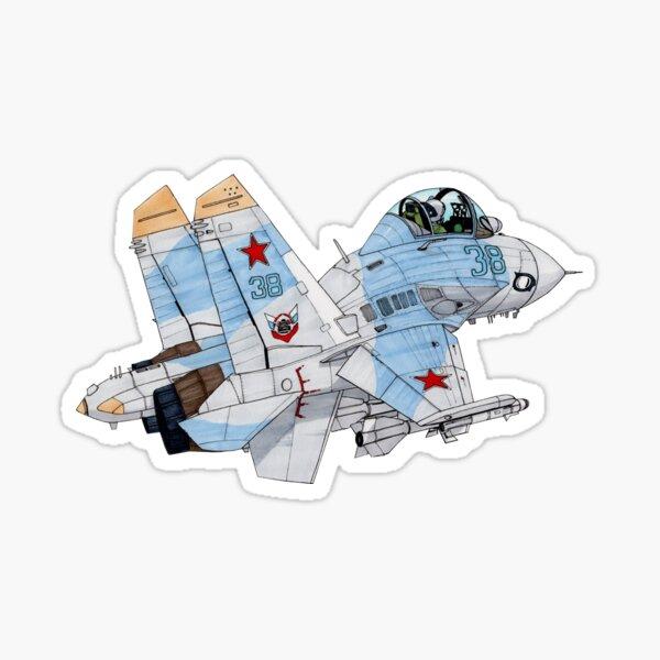 Sukhoi Su-27 Flanker cartoon Sticker
