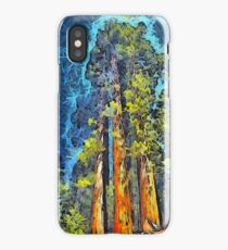 Three Giants Of The Forest Abstract iPhone Case