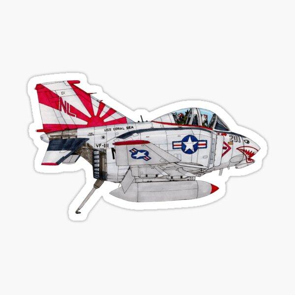 F-4B Phantom II cartoon Sticker