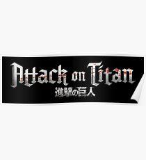 Attack on Titan - Logo Design Poster