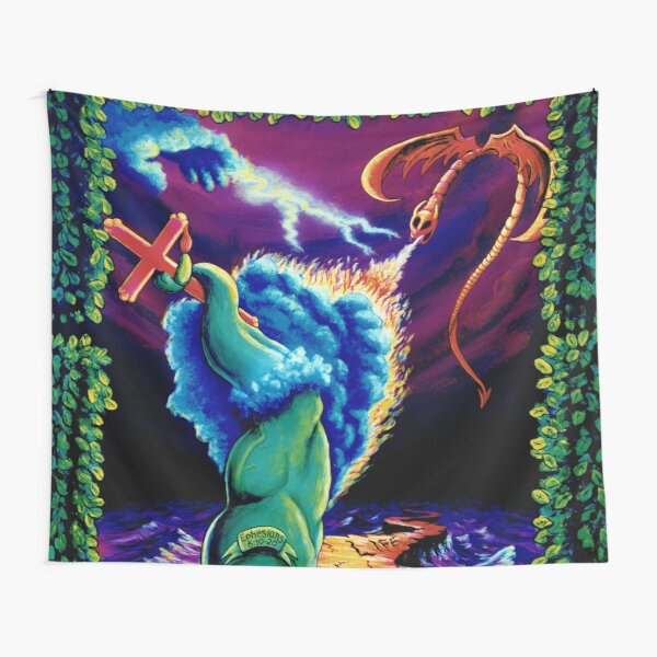 Psychedelic Trippy Visionary Surreal Psy Art STRENGTH by Vincent Monaco Tapestry