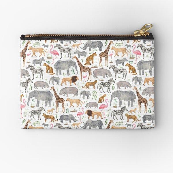 Safari Animals Zipper Pouch