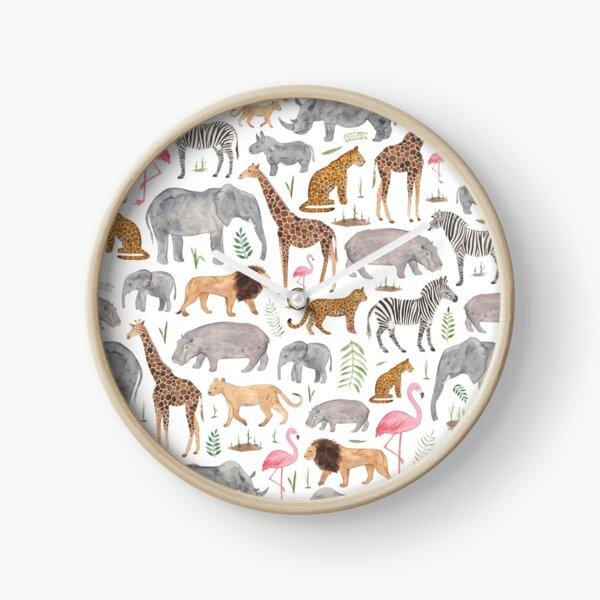 Safari Animals Clock