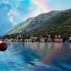 Rainbow In Kotor by Nancy Richard