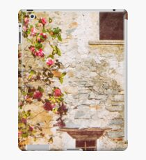 Camelia flowers and decayed house iPad Case/Skin