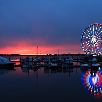 Sunset  at National Harbor, Maryland by RoseC