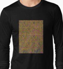 Alhambra palace prints, Andalucia, Granada, Spain pink yellow Long Sleeve T-Shirt