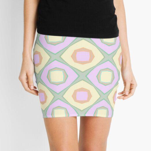 repeatability decoration theme star the illusion seamless colorful repeat pattern Mini Skirt