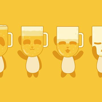 Blonde Panda Beer (yellow) by animinimal