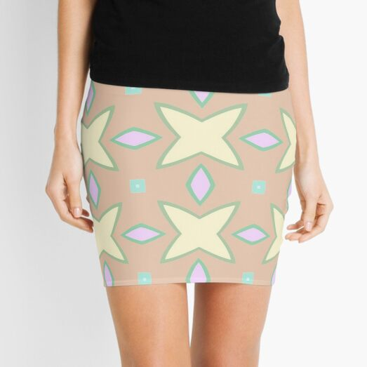 designs abstraction symmetry lines seamless colorful repeat pattern Mini Skirt