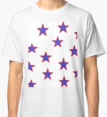 American Red White and Blue by Jean Tippens Classic T-Shirt