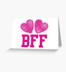 BFF with cute love hearts Greeting Card