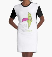 Don't Settle for Being Medi-Okra! Graphic T-Shirt Dress