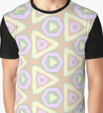 stained glass window the structure of the theme designs abstraction seamless colorful repeat pattern Graphic T-Shirt