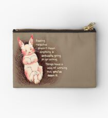 """Things Have a Way of Working Out"" Bunny Studio Pouch"