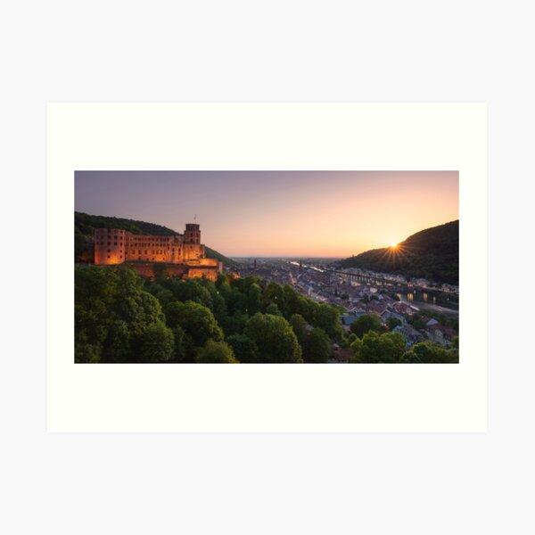 Heidelberg Evening Art Print