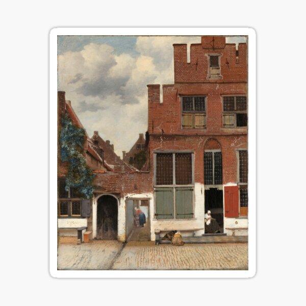 The Little Street - Johannes Vermeer Sticker