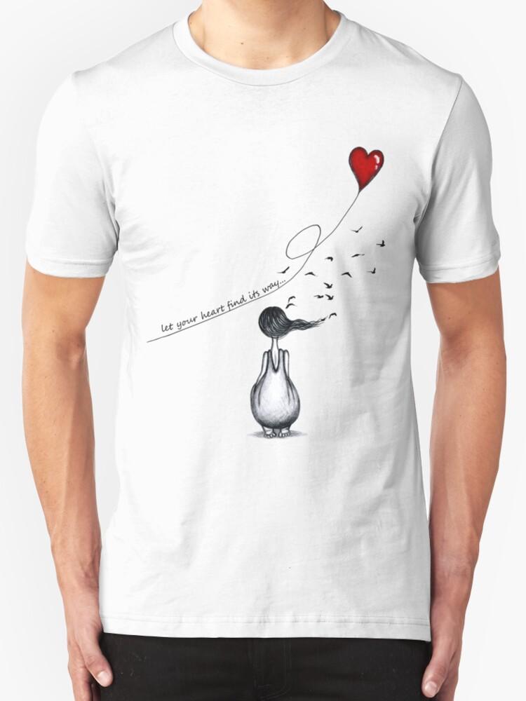Heart Printed Circuit Board Tshirts Unisex Triblend Tshirt