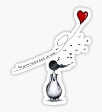 let your heart find its way Sticker